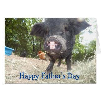 Der personalisierte glückliche Vatertag, Grußkarte