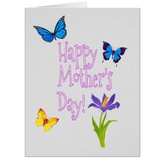 Der personalisierte Tag der Mutter Riesige Grußkarte