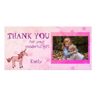 Der personalisierte Unicorn danken Ihnen Foto Karte