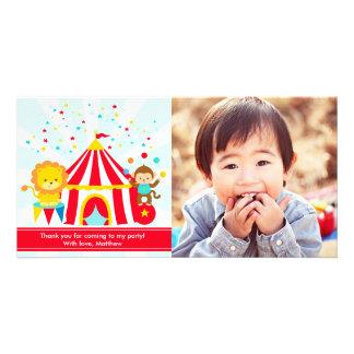 Der personalisierte Zirkus-Karneval danken Ihnen Karte