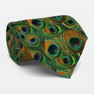 Der Pfau-Feder-Krawatte der Männer, aquamarines Bedruckte Krawatten
