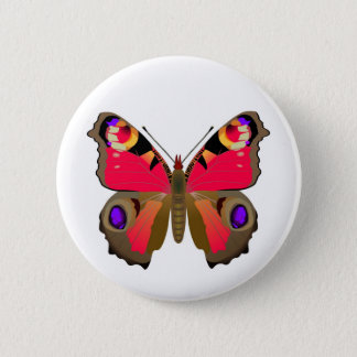 Der Pfauschmetterling Runder Button 5,1 Cm