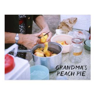 Der Pfirsich-Torten-Rezept-frische Pfirsiche der Postkarte