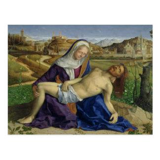 Der Pieta, c.1505 (Öl auf Platte) (Posten restor Postkarte