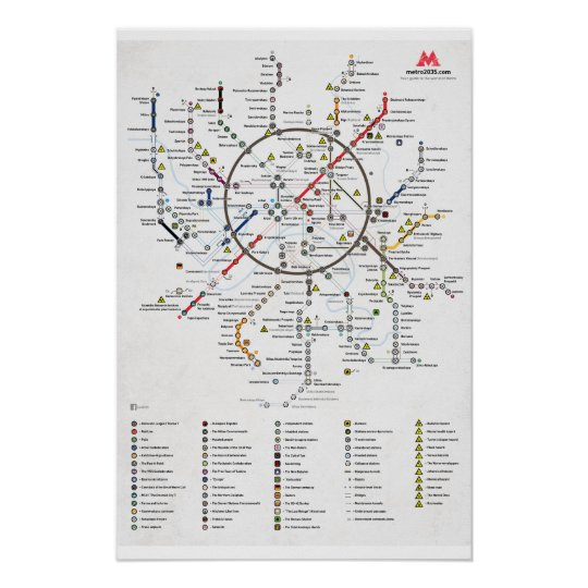 Der Plan Von Metro 2033 Poster Zazzle Ch