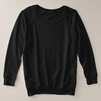 Der Plus-Size-Franzosen Terry lang 4 der Frauen Große Größe Sweatshirt