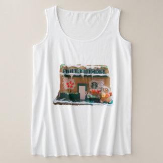 Der Plus-Size-Trägershirt TNIT Frauen (Starbucks) Große Größe Tanktop