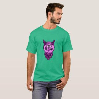 Der Pop-Kunst-Eulen-Shirt der Männer T-Shirt