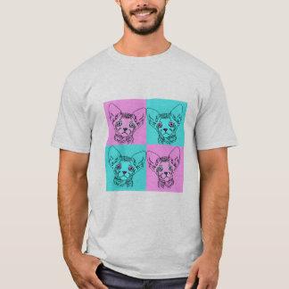 Der Pop-Kunst Sphynx Kätzchen-Shirt der Männer T-Shirt