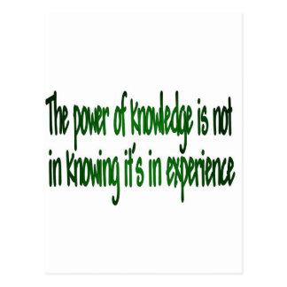 Der Power des Wissens Postkarte