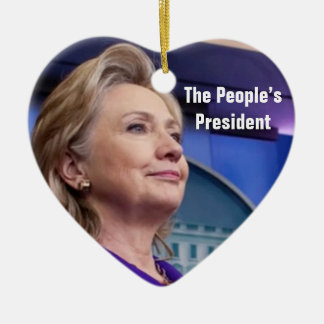 Der Präsident der Leute: Verzierung Hillary 2016 Keramik Herz-Ornament
