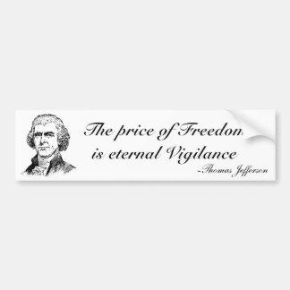 Der Preis der Freiheit Autoaufkleber