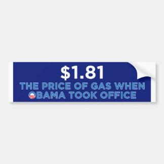 Der Preis des Gases Autoaufkleber