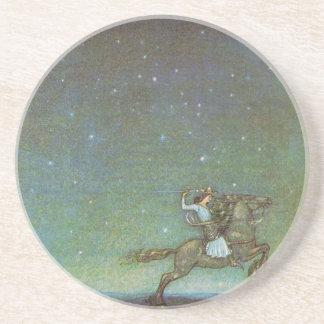 Der Prinz Rides im Mondschein durch John Bauer Untersetzer