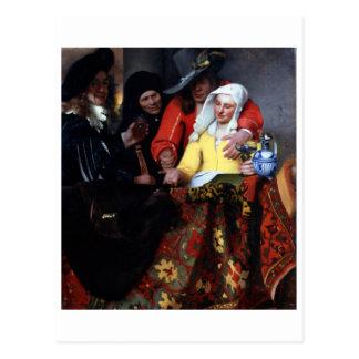 Der Procuress durch Johannes Vermeer Postkarte
