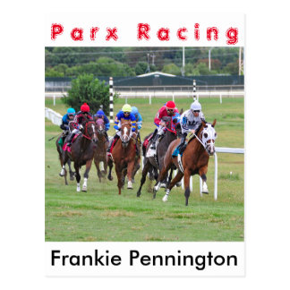 Der Punkt Frankie Pennington des Springers Postkarte