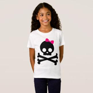 Der Punky-Schädel-weißer Jersey-T - Shirt des