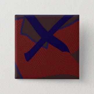 Der quadratische Knopf des Buchstabe-X Quadratischer Button 5,1 Cm