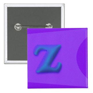 Der quadratische Knopf des Buchstabe-Z Quadratischer Button 5,1 Cm