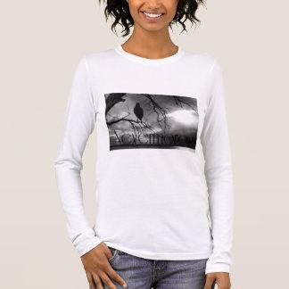 Der Rabe - nie wieder Sunbeams u. Baum B&W Langarm T-Shirt