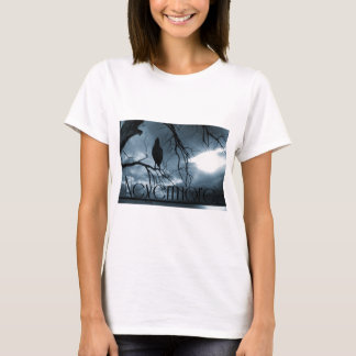 Der Rabe - nie wieder Sunbeams u. Baum-Blau T-Shirt