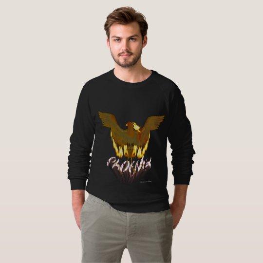 Der Raglan-Sweatshirt goldener Männer Phoenix Sweatshirt