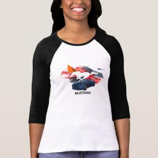 Der Raglan-T - Shirt der Mustangcustomizer-Frauen