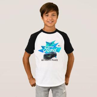 Der Raglan-T - Shirt der Mustangcustomizer-Kinder