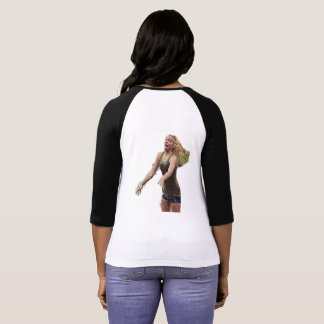 Der Raglan-T - Shirt TNIT Frauen (Haar drehen) um