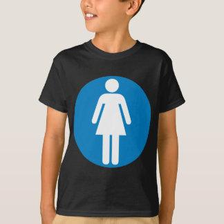 Der Restroom-Landstraßen-Zeichen der Frauen T-Shirt