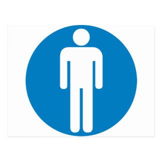 Der Restroom-Landstraßen-Zeichen der Männer Postkarte