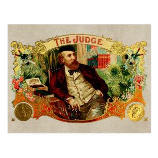 Der Richter-Vintage Zigarrenschachtel-Aufkleber Postkarte