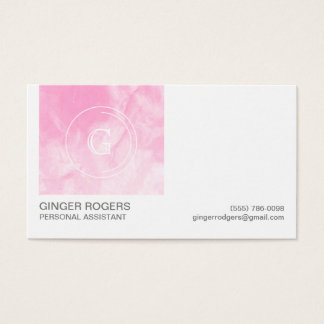 Der rosa Watercolor-berufliche Geschäfts-Karte der Visitenkarte