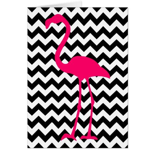 Der rosa Zickzack Flamingo danken Ihnen Grußkarte