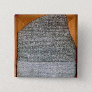 Der Rosetta Stein, von Fort-St. Julien, Quadratischer Button 5,1 Cm