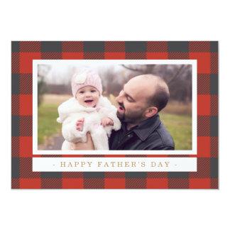 Der rote karierte Vatertag 12,7 X 17,8 Cm Einladungskarte