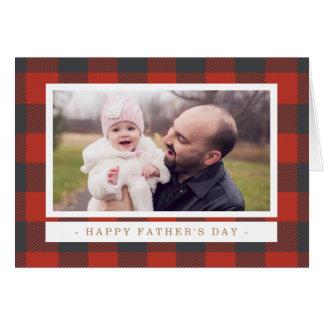 Der rote karierte Vatertag Grußkarte