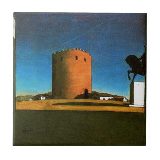 Der rote Turm durch Giorgio de Chirico 1913 Fliese