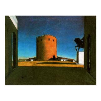 Der rote Turm durch Giorgio de Chirico 1913 Postkarte