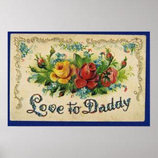 Der rote Vatertag, prägeartige, geteilte hintere B Plakat