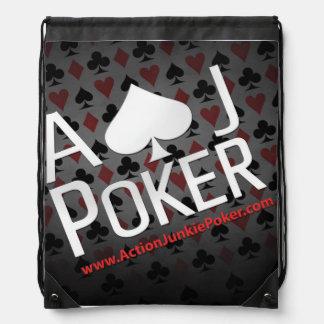 Der Rucksack eines Poker-Spielers Turnbeutel