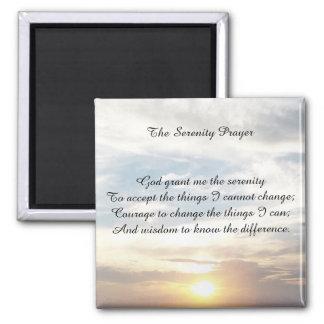 Der Ruhe-Gebetsmagnet Quadratischer Magnet