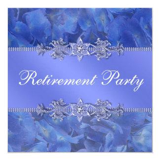 Der Ruhestands-Party der eleganten blauen Karte