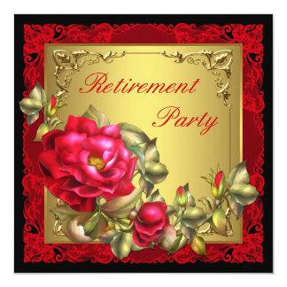 Der Ruhestands-Party der schwarzen GoldRosen-Frau Karte