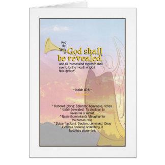 Der Ruhm des Gottes aufgedeckt - Jesaja-40:5 Karte