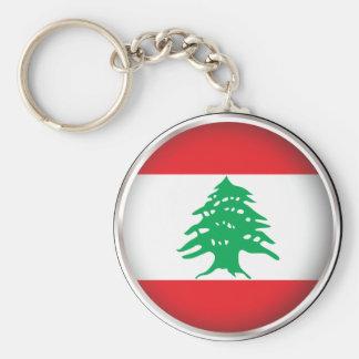Der runde Libanon Schlüsselanhänger