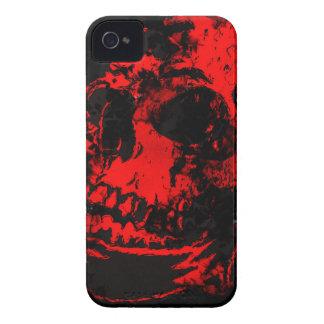 Der Schädel-gruselige Grafik des roten Teufels Case-Mate iPhone 4 Hüllen