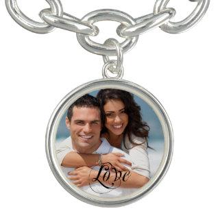 Der Schatz-Foto-Charme Bracklet des Paares Charm Armband