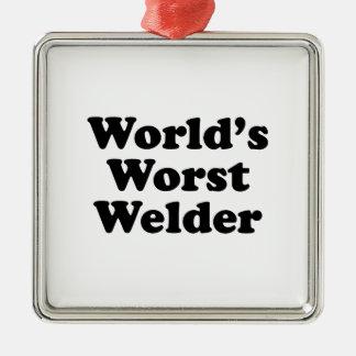 Der schlechteste Schweißer der Welt Quadratisches Silberfarbenes Ornament