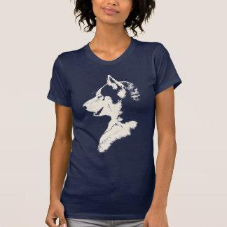 Der Schlitten-Hundeheisere Shirt-Geschenke der Tshirts